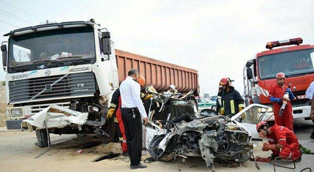 حادثه خونین رانندگی در محور لار - بندرعباس، 9 مصدوم و 6 کشته