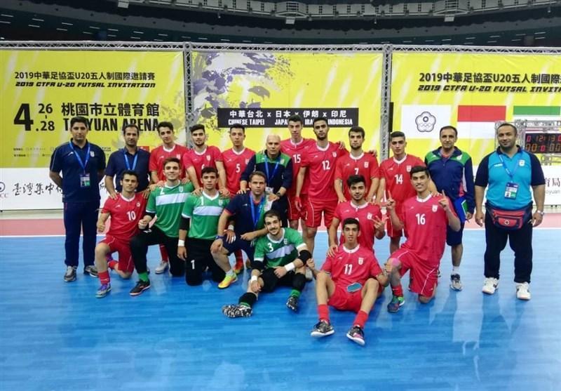 تورنمنت چهارجانبه چین تایپه، پیروزی تیم فوتسال زیر 20 سال ایران مقابل ژاپن در گام دوم