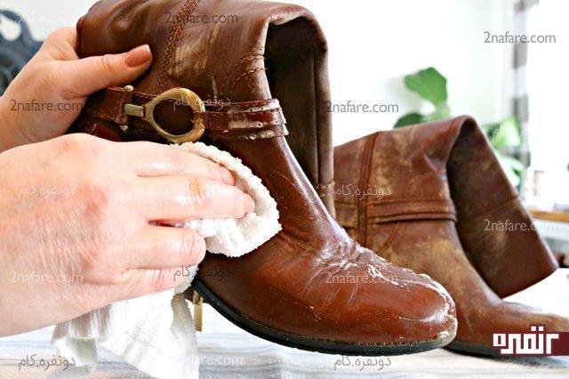 روش صحیح تمیز کردن کفش و چکمه های چرم