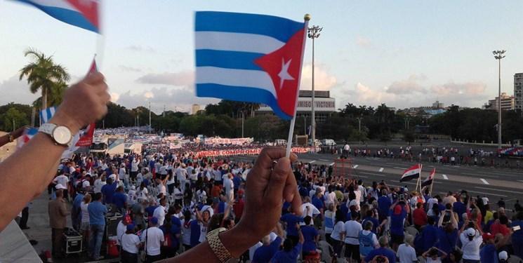 تصاویر ، تظاهرات میلیونی کوبایی ها در اعتراض به آمریکا