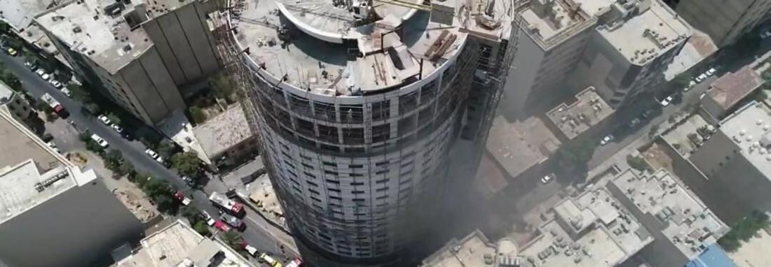 تمام ساختمان های اطراف هتل آسمان شیراز خالی از سکنه شدند ، نتیجه کارشناسی به دادستانی اعلام می گردد