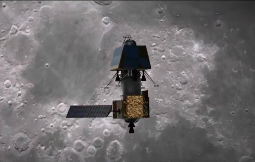 فضاپیمای چاندرایان 2 با موفقیت وارد مدار ماه شد