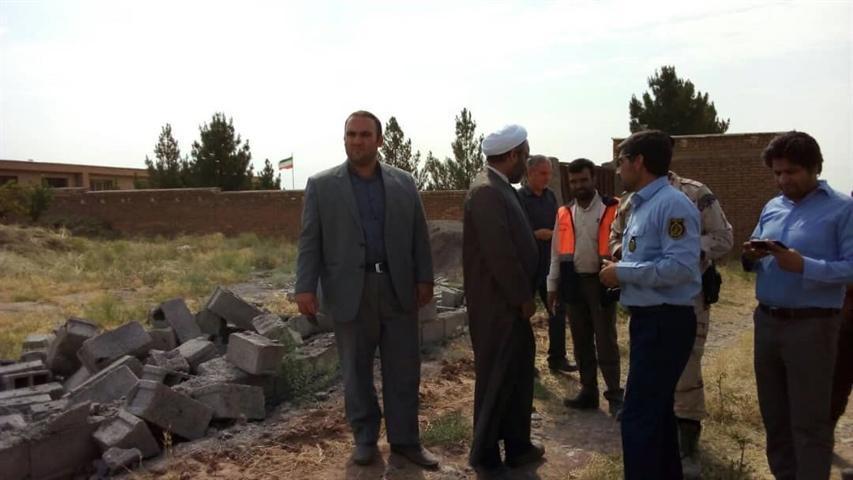 تخریب 8 مورد ساخت وساز غیرمجاز در اراضی سایت باستانی شهر کهن نیشابور