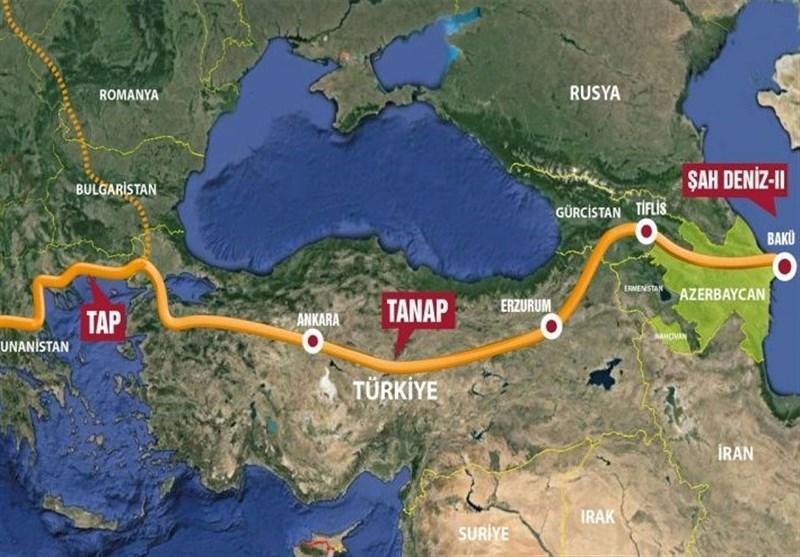 مراسم اتصال خط انتقال گاز تاناپ به اروپا با حضور اردوغان و علی اف