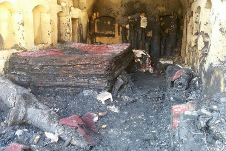 کاروانسرای قاجاری در آتش سوخت