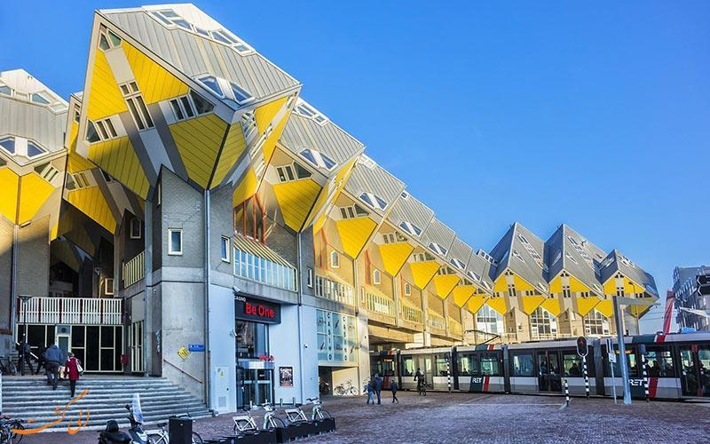 با خانه های روبیک در روتردام آشنا شوید