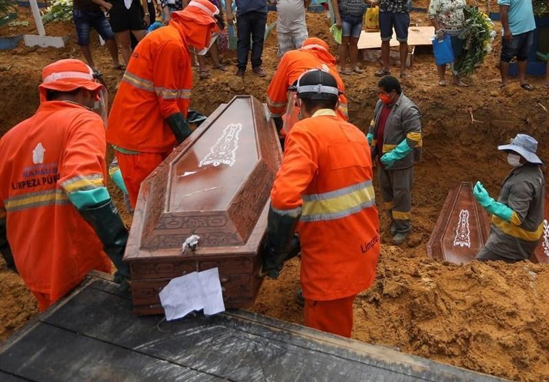 برزیل در رتبه ششم دنیا از نظر تعداد قربانیان کرونایی