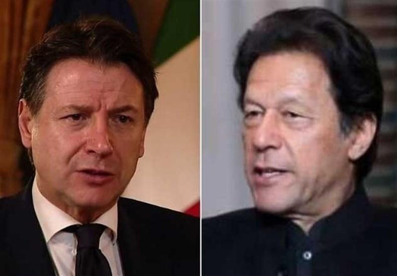 رایزنی تلفنی عمران خان و نخست وزیر ایتالیا درباره مساله کشمیر