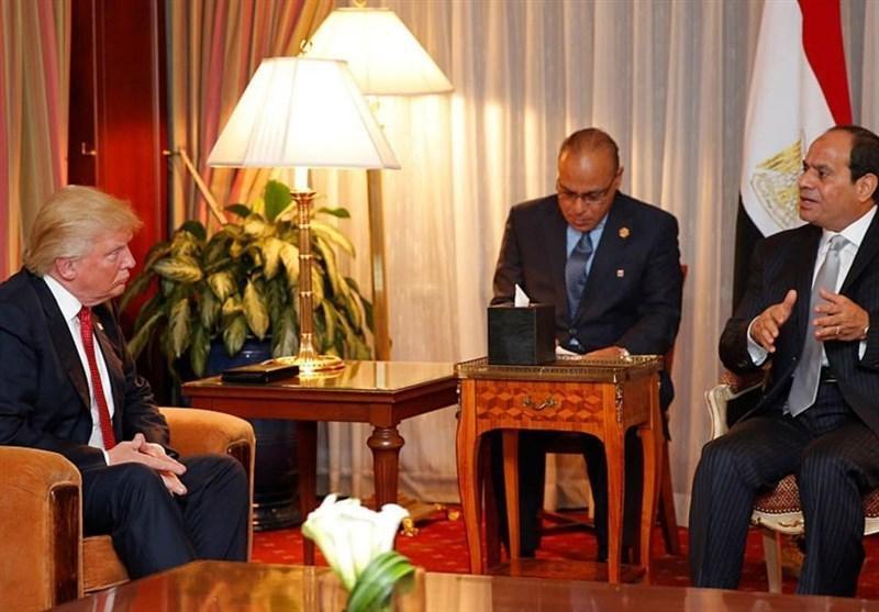 گفت وگوی تلفنی رئیس جمهور مصر با ترامپ