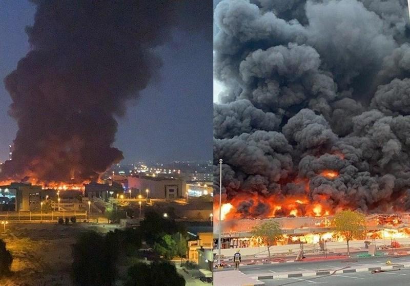 علت آتش سوزی در بازار عجمان امارات معین شد