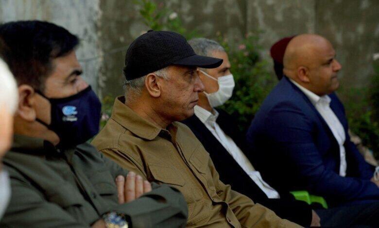 الکاظمی به محل جنایت در بلد رفت، عکس