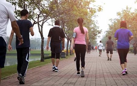 بهترین زمان پیاده روی