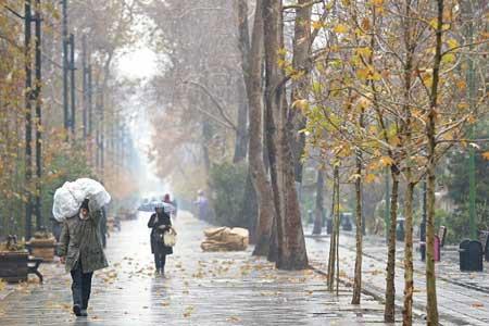 بارش باران در بیشتر نقاط ایران