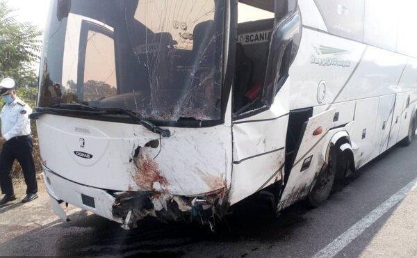 تصادف محور آرادان سرخه تلفاتی نداشته، مصدومیت 4 سرنشین اتوبوس
