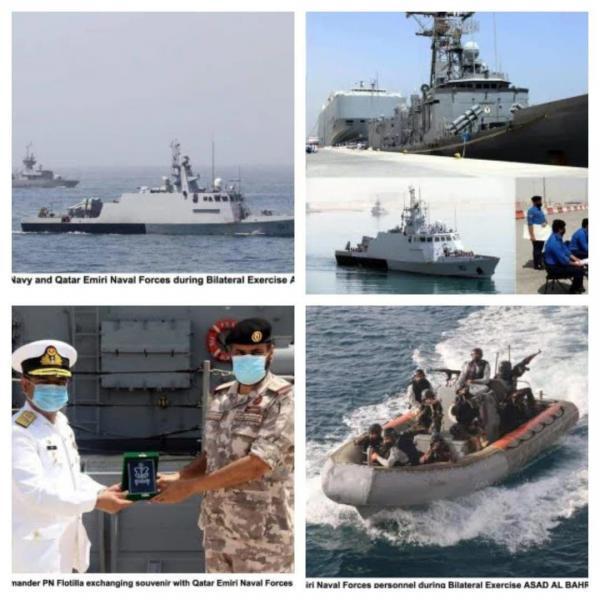 برگزاری رزمایش دریایی مشترک پاکستان و قطر